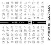 hotel outline icons | Shutterstock .eps vector #622048307