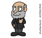 cartoon rugged old man in a... | Shutterstock .eps vector #622061543
