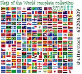 flags of the world and earth... | Shutterstock . vector #62206309