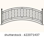 arch bridge railing vector... | Shutterstock .eps vector #622071437