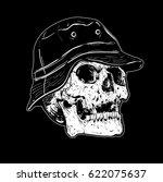 vector skull artwork | Shutterstock .eps vector #622075637