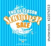 summer sale banner poster... | Shutterstock .eps vector #622076513