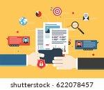 transfer of confidential... | Shutterstock .eps vector #622078457