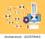 computer with antivirus for... | Shutterstock .eps vector #622078463