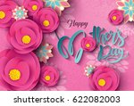 happy mother's day calligraphy... | Shutterstock .eps vector #622082003