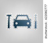 car tire repair service sign.... | Shutterstock .eps vector #622082777
