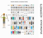 character creation photographer | Shutterstock .eps vector #622090073