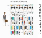 character creation lawyer | Shutterstock .eps vector #622090367