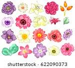 flower set | Shutterstock .eps vector #622090373