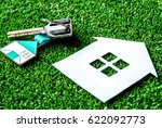 concept of buying house on... | Shutterstock . vector #622092773