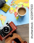 vacation concept with traveller ... | Shutterstock . vector #622097033