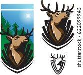 buck badge design element