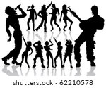 vector dancing and singing... | Shutterstock .eps vector #62210578