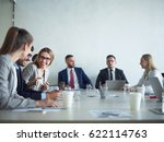 group of cheerful business... | Shutterstock . vector #622114763