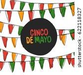 cinco de mayo postcard. holiday ... | Shutterstock .eps vector #622118327