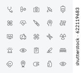 medical line icons vector... | Shutterstock .eps vector #622119683