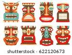 Collection Of Tiki Tribal Mask...