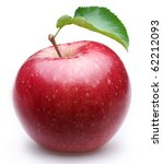 ripe red apple with a leaf.... | Shutterstock . vector #62212093