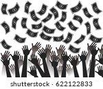 money falling background | Shutterstock .eps vector #622122833