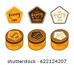 set of pentagonal templates... | Shutterstock .eps vector #622124207