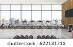 3d rendering long city view... | Shutterstock . vector #622131713