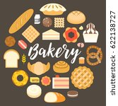 bakery headline and bakery... | Shutterstock .eps vector #622138727