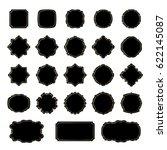 frames black silhouettes... | Shutterstock .eps vector #622145087