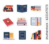 set of book flat design.... | Shutterstock . vector #622147073