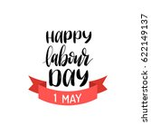happy may day lettering vector... | Shutterstock .eps vector #622149137