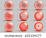set of transparent and opaque... | Shutterstock .eps vector #622154177