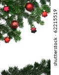 branches of fir with stars and... | Shutterstock . vector #62215519