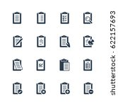 clipboard vector icon set | Shutterstock .eps vector #622157693