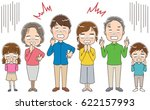 three generation families are... | Shutterstock .eps vector #622157993