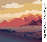 background with mountain... | Shutterstock .eps vector #622159787