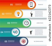 infographic options banner. can ... | Shutterstock .eps vector #622162373