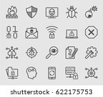 internet security line icon | Shutterstock .eps vector #622175753