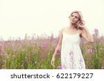 outdoor portrait of a beautiful ... | Shutterstock . vector #622179227