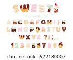 sweets bakery font design....