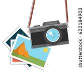 retro  vintage camera  flat... | Shutterstock .eps vector #622184903