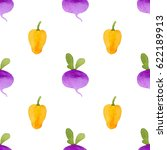 pattern made of cute yellow... | Shutterstock . vector #622189913