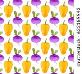 pattern made of cute yellow... | Shutterstock . vector #622189943