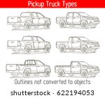 truck pickup types template... | Shutterstock .eps vector #622194053