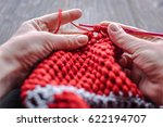 Crocheted . Crochet Box And...
