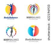 fitness and wellness vector... | Shutterstock .eps vector #622196933