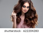 closeup beauty portrait of... | Shutterstock . vector #622204283