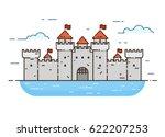 linear style castle color... | Shutterstock .eps vector #622207253