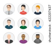 set of vector flat style people ... | Shutterstock .eps vector #622207637