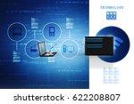 3d rendering computer network | Shutterstock . vector #622208807