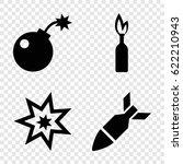 explode icons set. set of 4... | Shutterstock .eps vector #622210943