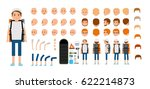 man character creation set.... | Shutterstock .eps vector #622214873